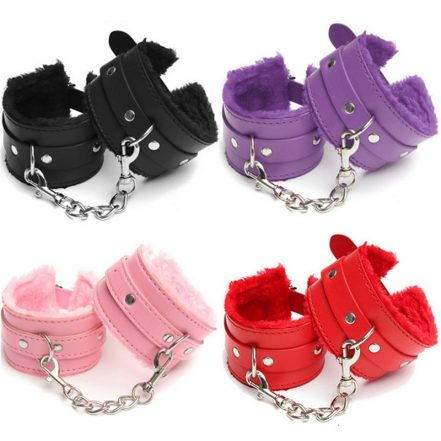 PU Leather Plush Hand & Ankle Cuffs